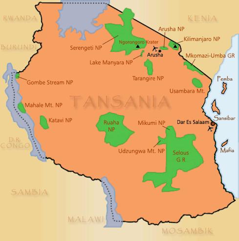 Nationalparks Tansania