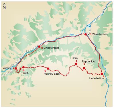 Karte Valtnov Weissentannetal